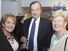 Margaret Hodge with John Mills and wife Dame Barbara Mills