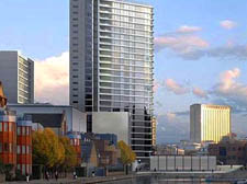 Basin Towers hit by credit crunch fears