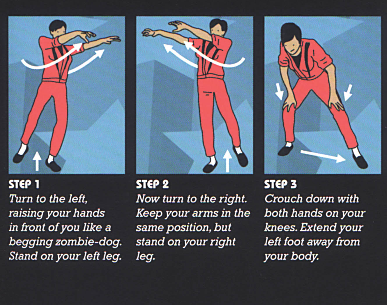 Examples of Michael Jackson's Thriller moves