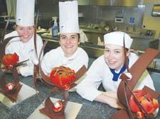 West End News: kitchen sculpture | student chocolatiers